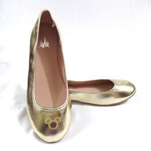 Metallic Gold Mickey Mouse Ballet Flats